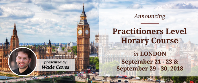 STA Practitioners-Level Horary Course: London, Sept 21 - 23 & 29 - 30, 2018