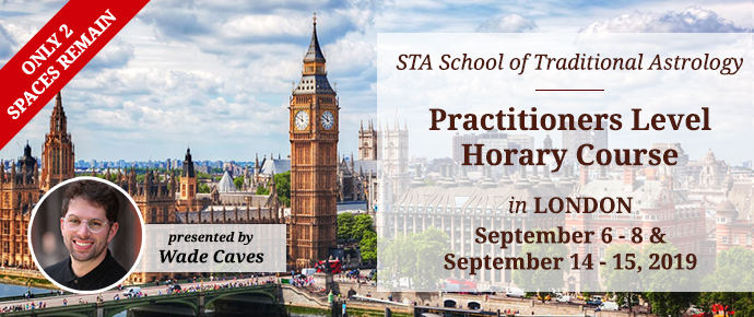 STA Practitioner-Level Horary Course in London, UK