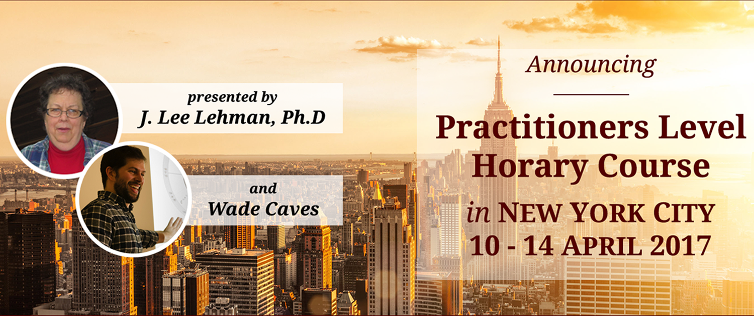 STA Horary Course - New York City 10-14 April 2017
