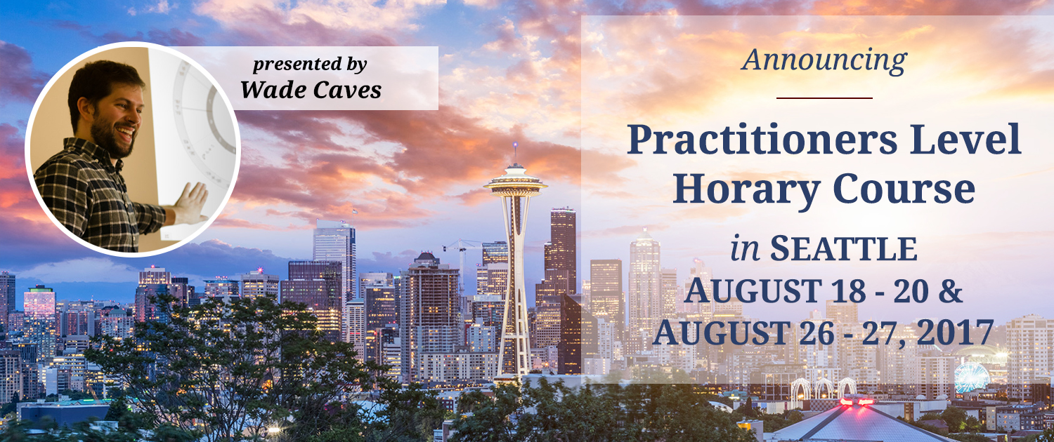 STA Practitioners-Level Horary Course: Seattle, August 18 - 20 & August 26 - 27, 2017
